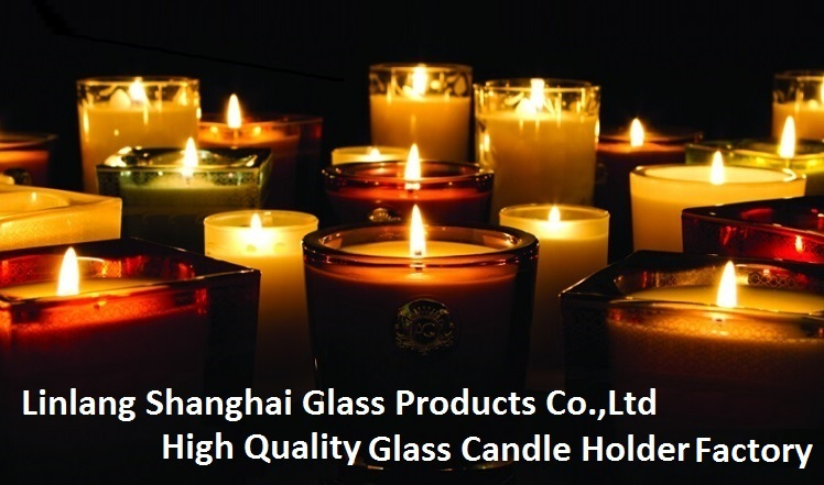 Linlang Shanghai 7 Days Glass Cemetery Memorial Candle Holders 8 Inches Glass Jar Religious Candle