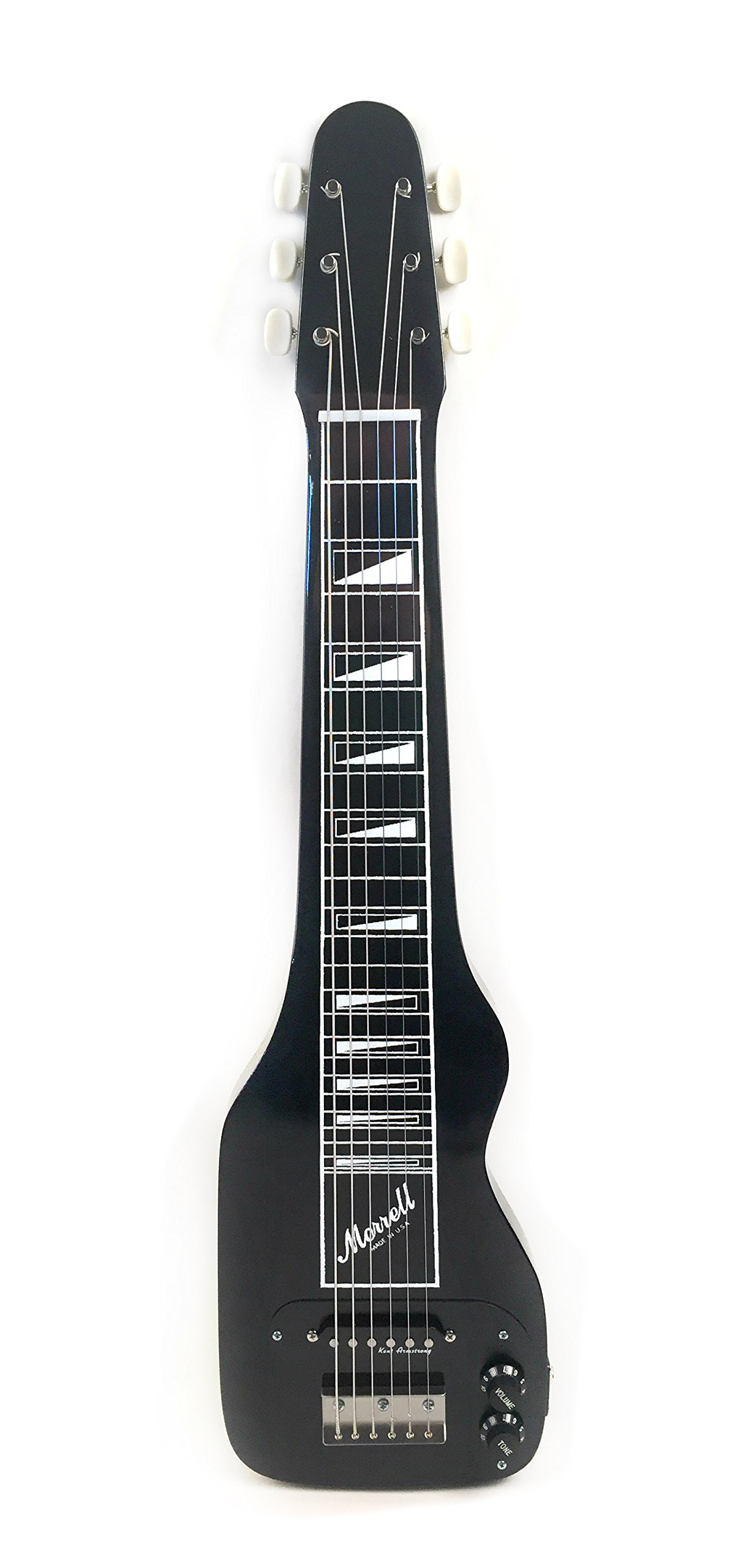 Morrell PLUS Series 6-String Lap Steel Guitar Gloss Black Finish USA