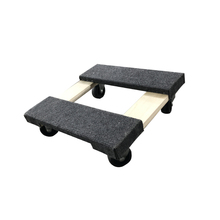 "Lowes platform wooden dolly with 3""caster for moving furniture"