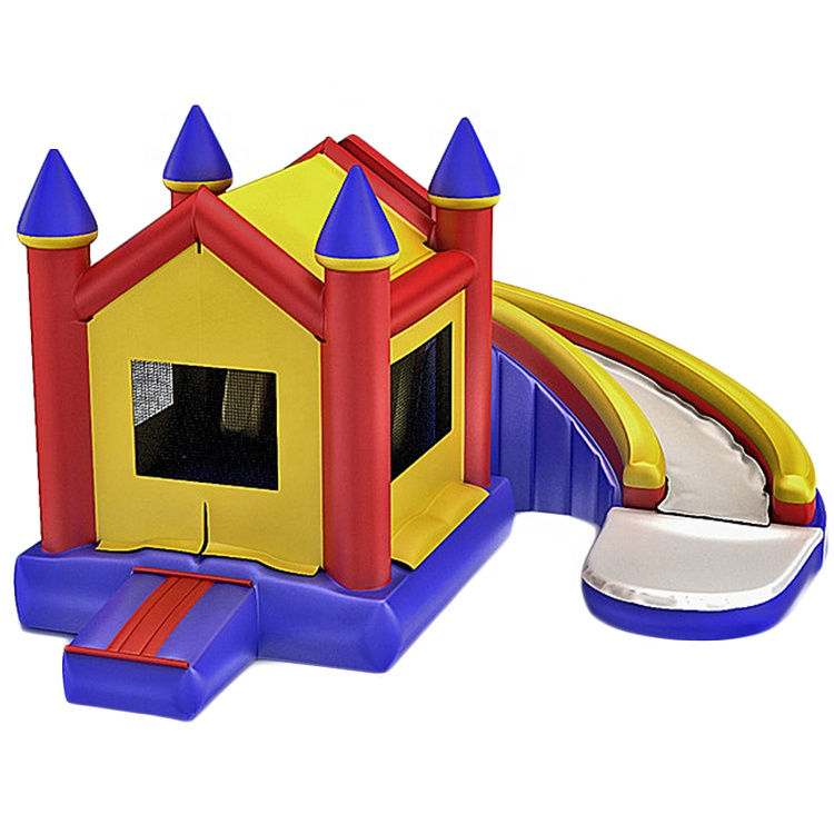inflatable bounce castle combo jumping house  bouncy slide for factory sale directly