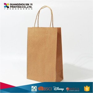 Brown kraft paper bag with cotton rope handles