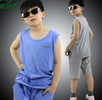 5f05a9455f04 Boy s Clothes Suit Summer Children s Tank Top+Shorts Baby Boys Casual  Clothing Sets