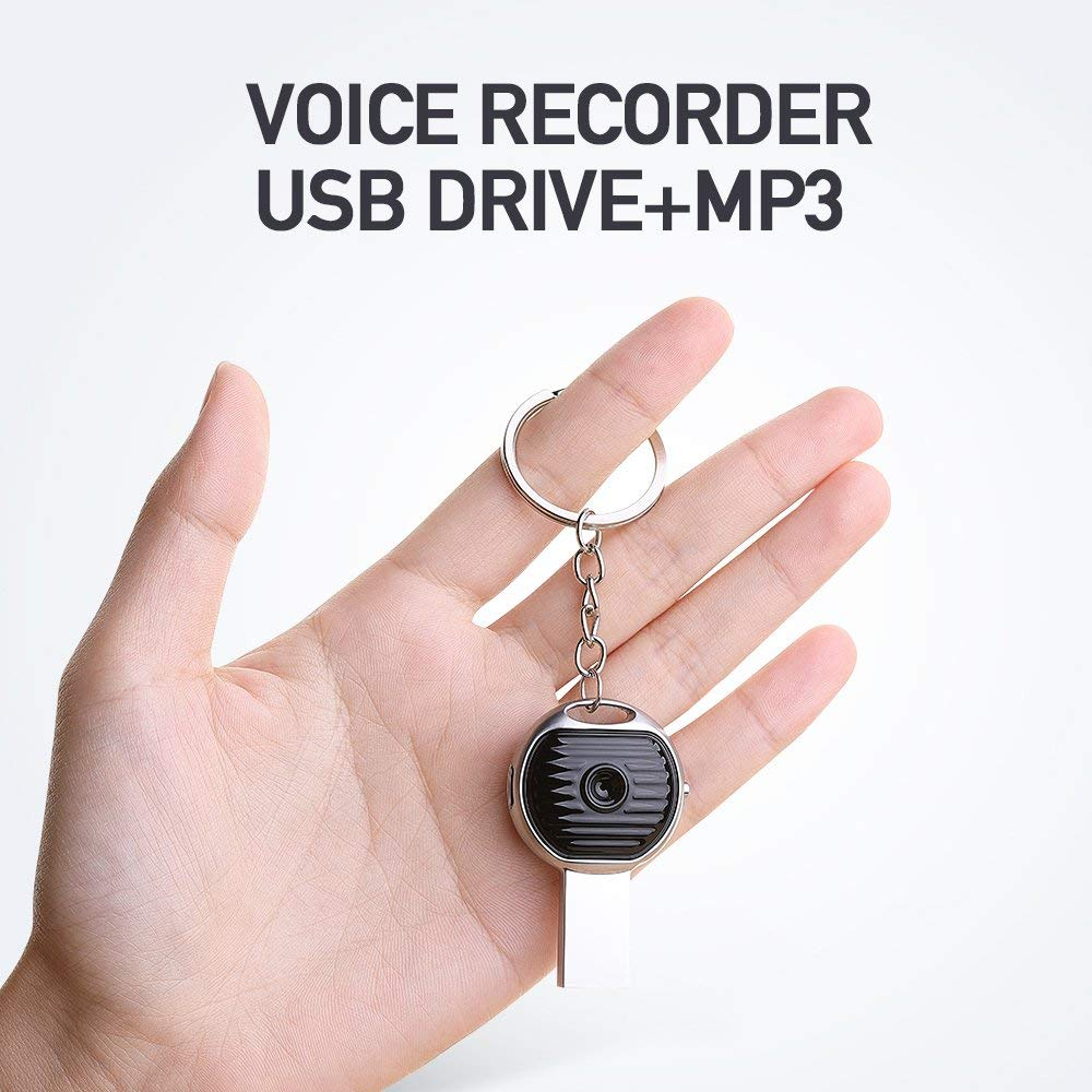 Voice Recorder,Mini Voice Activated Recorder 8G,High-Definition Noise Reduction Metal Fuselage, Rechargeable Digital Sound Audio Recorder Dictaphone with USB Flash Driver MP3 Player for Lectures