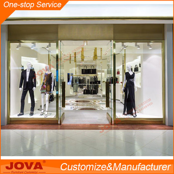Fashion Clothes/bags Display Showroom Interior Design ...