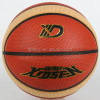 Xidsen,Qianxi Rubber 9 pannels Basketball size 7,PVC/PU glue laminated,new design