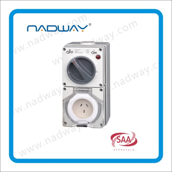56cv520changeover switch switch socket single phase 5flet/round pins switched socket outlets