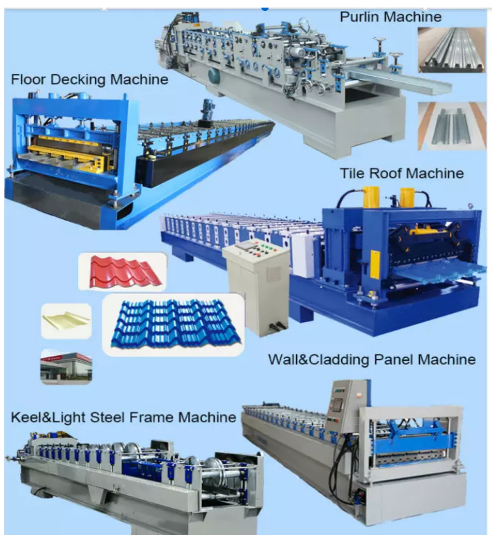 Galvanized Steel Profile C Channel Cold Roll Forming Machine Roll Former c z purlin bending machine