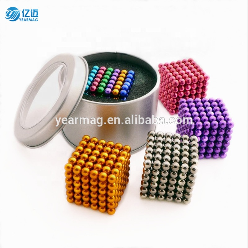 Strong magnetic buckyballs 5mm neodymium rare earth permanent magnet colorful NdFeB magnet balls for toy puzzle