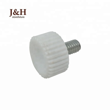 Versatile White M4 Threaded Steel Tension Adjustment Dimple Knob for Furniture Plastic Head Bolts Small Round Screw Handles