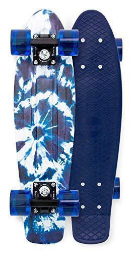 "Penny Board- The Original Penny Skateboard- Summer Edition- 22"" Indigo Tie Dye Retro Cruiser by Penny Skateboards"