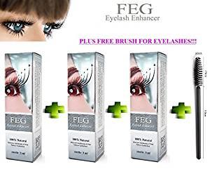 497133d5ee2 Get Quotations · 3 X FEG Eyelash enhancer. The most powerful eyelash growth  Serum 100% Natural.