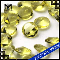Fancy Table Loose Gemstone Round 12.0mm Yellow Color Bead for Jewelry