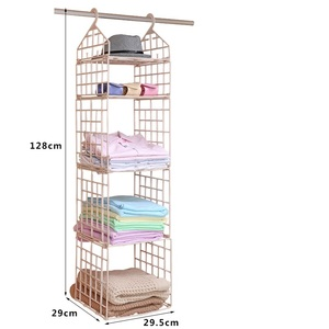 Hot Sale Rectangle shape foldable 32 clips laundry plastic clothes hanger with pegs for clothes drying rack