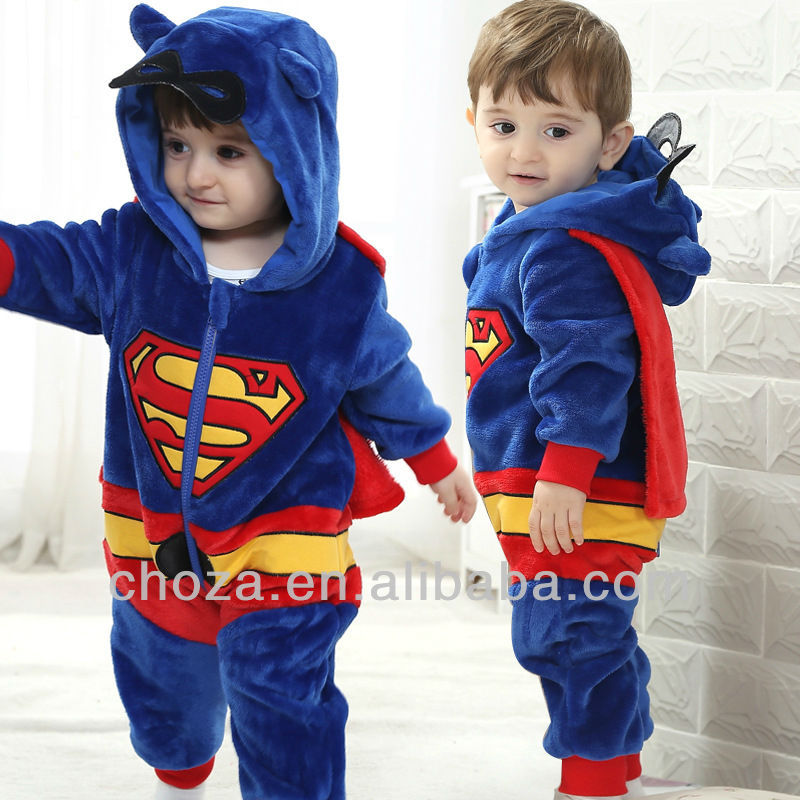 C10543C 2014 SUMMER LATEST FASHION BABY SUPERMAN ROMPERS