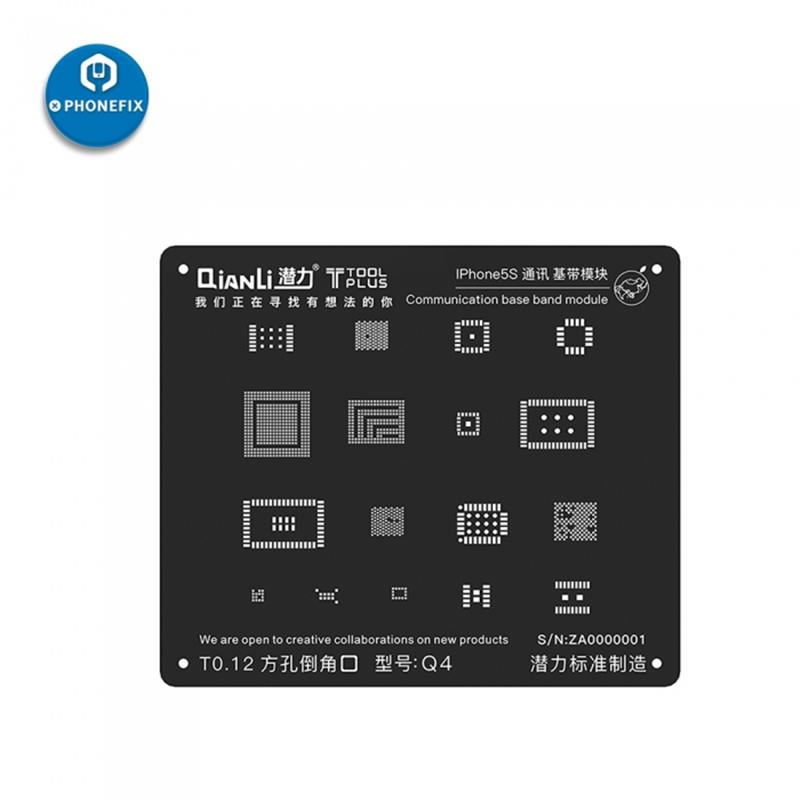 Universal QianLi Black BGA Stencil Communication Baseband Module BGA Reballing Stencil for iPhone 5 5S 6 6S 7G 7Plus 8 8P