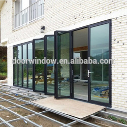 Classroom partition folding door china supplier popular interior bi-folding cheap doors