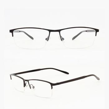 Italy Half Rim Metal Frame Eye Glasses With Width Temple For Men ...