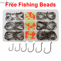150pcs 7384 High Carbon Steel Fishing Hooks Saltwater Fishing Offset Sport Circle Bait Fishhooks Set Box
