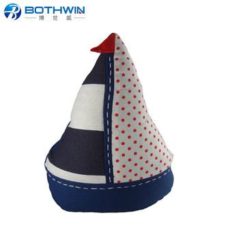 Sailing Boat Shaped Fabric Draft Bean Bag Door Stop