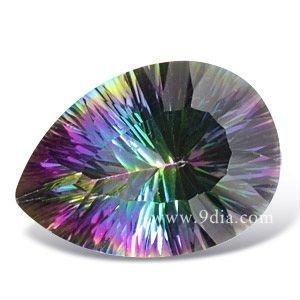 semi precious magic green rainbow color mystic topaz