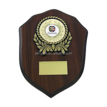 Mahogony Wooden Shield with Plaque Plate
