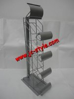 3 levels Metal Display Rack for store/single side wire promotion display holder/clothing shops display stand