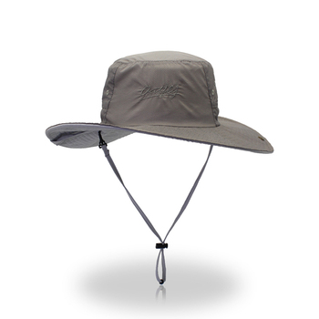 5653c359bc5 Wind Lanyard Rated Upf 50+ Adjustable Medium To Large Bucket Cap Hat ...