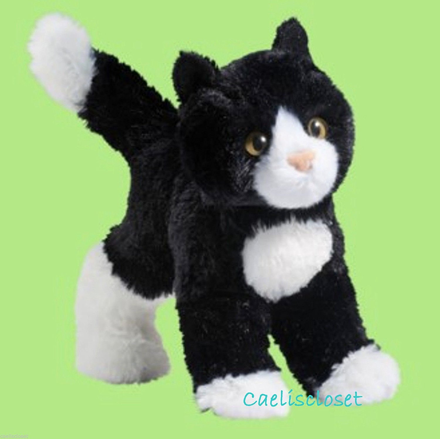 Buy Plush Snippy Black And White Cat Stuffed Tuxedo Kitten Toy New