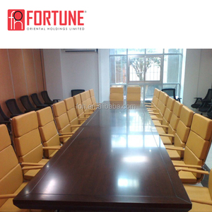 Mahogany luxury wood meeting conference table for conference (FOH-HYT-102)