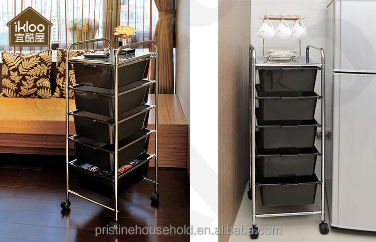La maison de stockage dorganisateur de bureau noir 5 palier tiroir