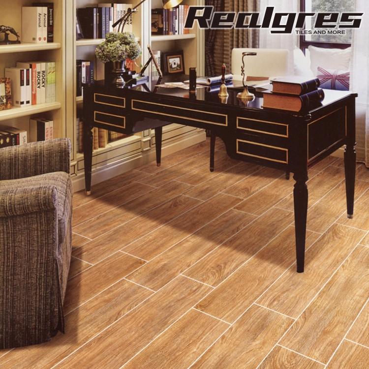 Shiny Uneven Floor Tile Imitation Wood
