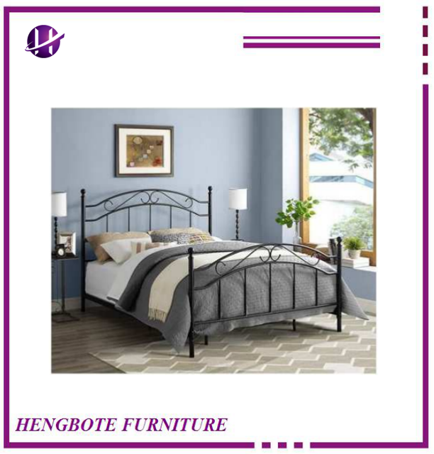 Super European King Size Bed Frame Wrought Iron Bedroom Used Fully K D Discount Metal