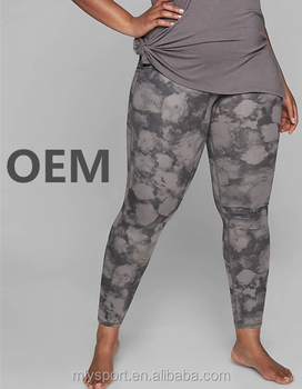 0ee1d9254ad 2018 Fat Woman Plus Size Leggings Custom Printed Yoga Wear ...
