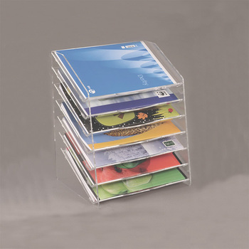 Desktop Tall 40 Tiers Clear Acrylic Magazine Holder Lucite Block Stunning Lucite Magazine Holder