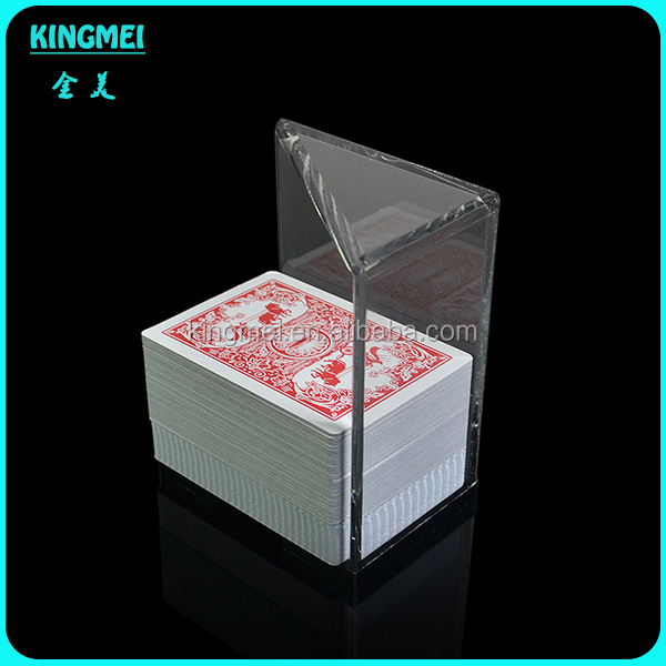 China supplier wholesale acrylic playing card holder and poker box