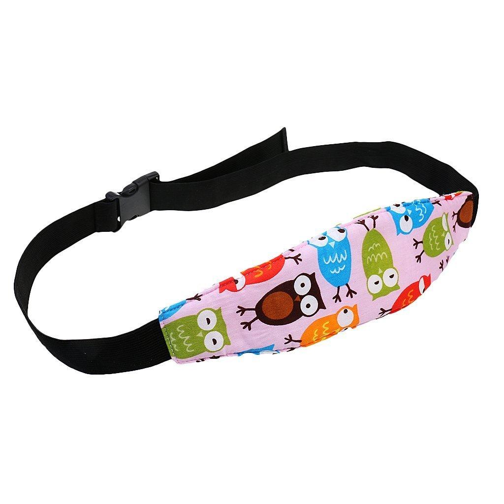 Safety Stroller Adjustable Head Holder Sleep Belt,Toddler Car Seat Infants and Baby Head Support, Car Seat Neck Relief Head Strap (pink,blue)