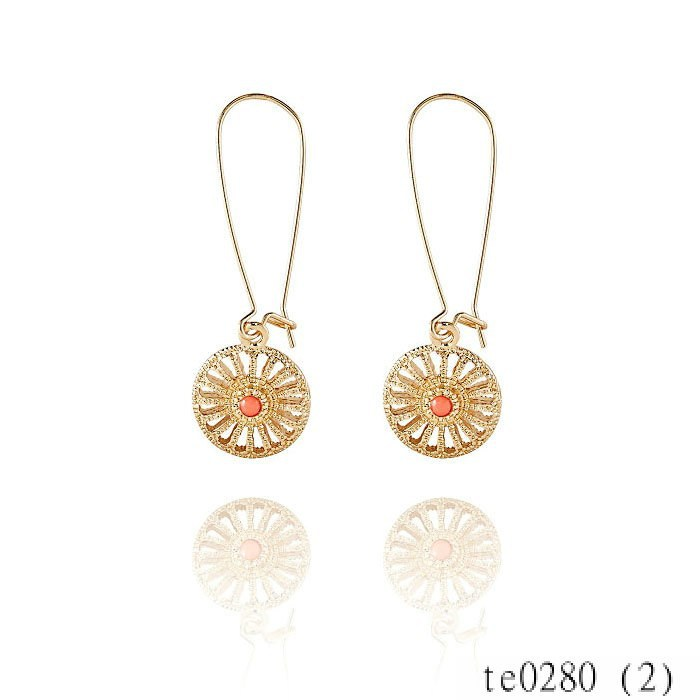 Gold Plated Wholesale Fashion Citi Trends Delicate Disc Earrings Jewelly