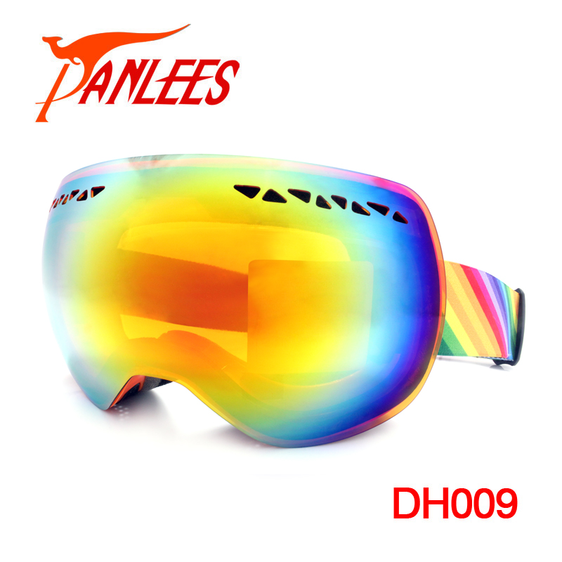 OEM Anti-fog UV400 Dual Lens Snow Goggles Ski Goggles Mirrored Ski Goggles For Skiing Climbing