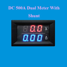 Factory Directly Led Dual Digital 300VDC 500A Voltmeter Ampere Meter With Shunt