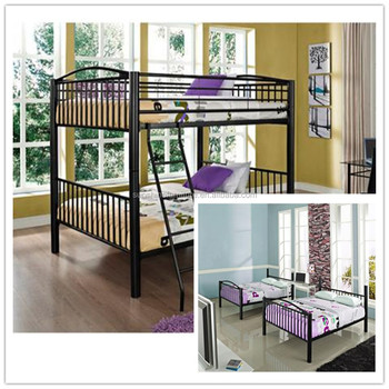 Used Kids/adult Bedroom Furniture Cheap Latest Double Bed Designs, Metal  Double Decker Bed
