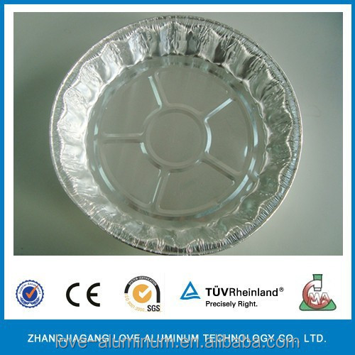 Round With Lid For Frozen Ready Meals Food Aluminum Foil Tray