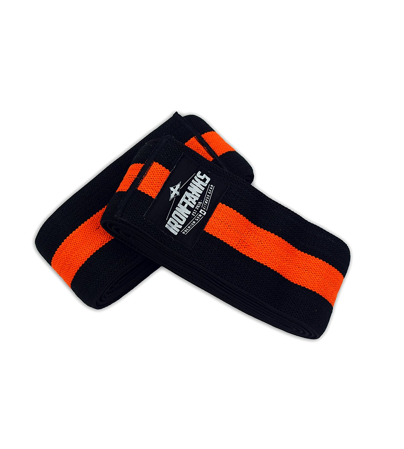 Iron Tanks Heavy 2M Knee Wraps - Bodybuilding Powerlifting Weightlifting 2 Metre / 78""