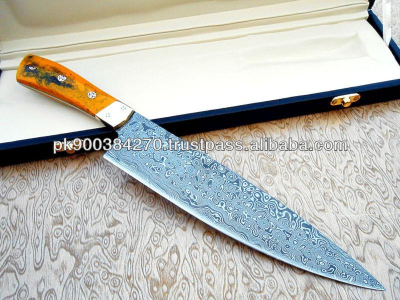 custom made damascus steel chef knife - buy chef knife,kitchen