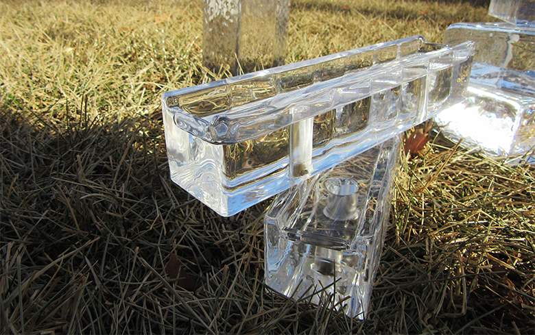 update price for crystal glass block clear solid glass brick and glass paver block