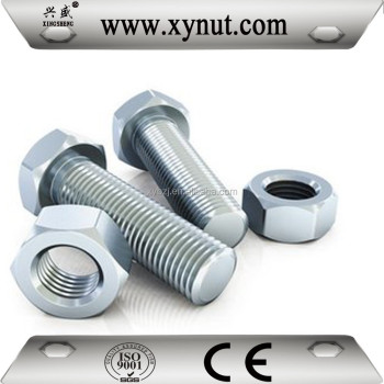 carbon steel bolt nut m4-m60 sizes grade 4.8 6.8 8.8