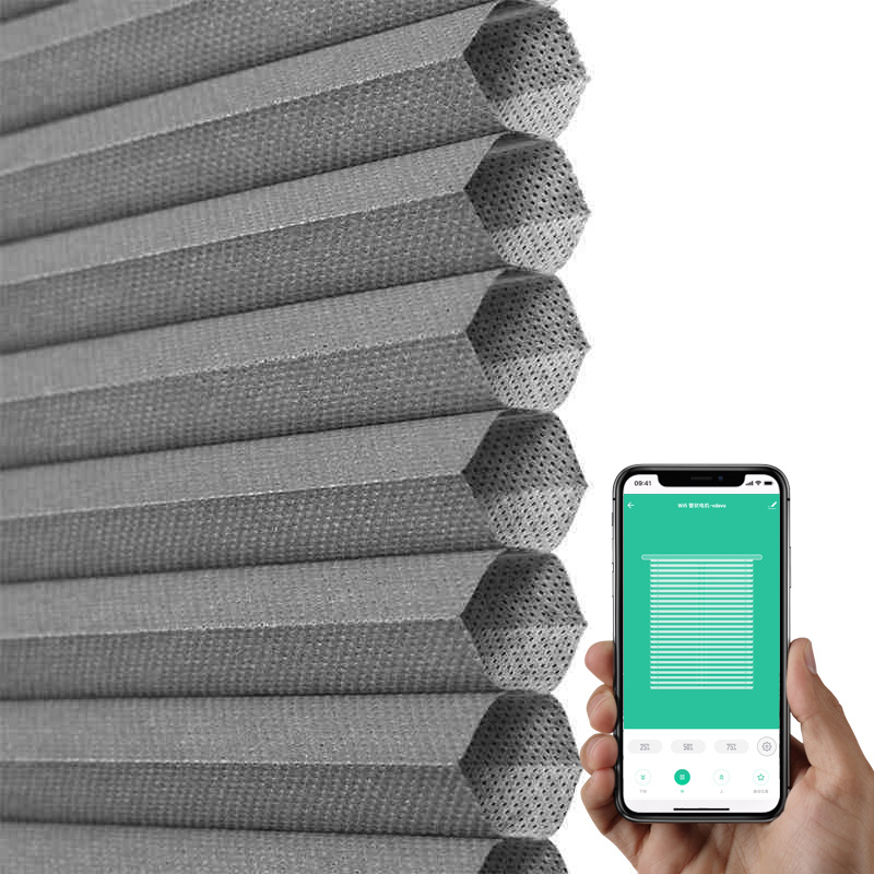 SMART BLINDS Google home Amazon Echo Alexa Smart home Electric louver Tuya APP Intelligence control motorized honeycomb blinds