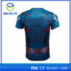 NEW 2017 Captain America 2 Super Hero lycra compression tights sport T shirt Men fitness clothing short sleeves T shirt