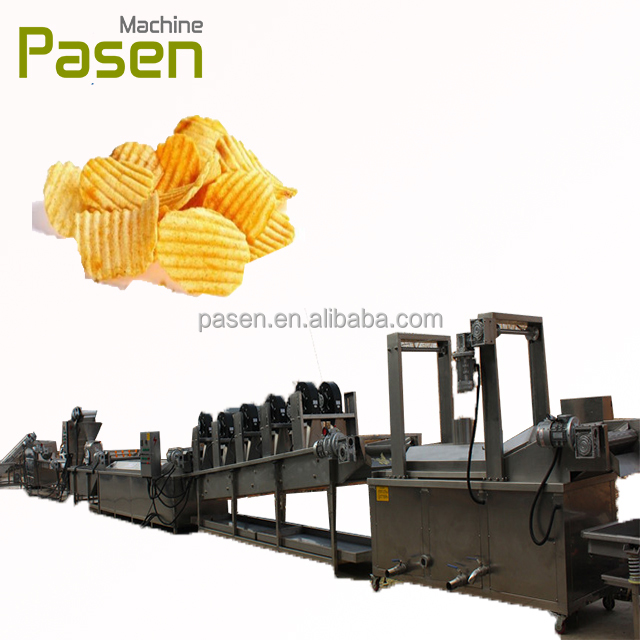 Fully automatic potato chips production <strong>line</strong> / potato flakes production <strong>line</strong> / potato chips making machine <strong>line</strong>