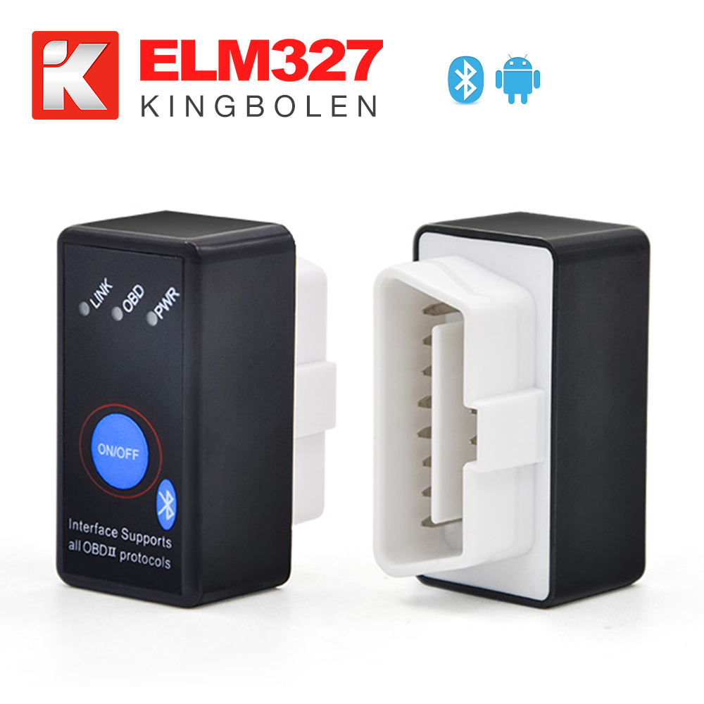 Super Mini ELM327 with switch ELM 327 Bluetooth OBD2 OBD II CAN-BUS Diagnostic Tool + Switch Works on Android Symbian Windows