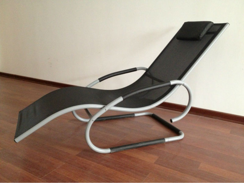 Spring Loaded Lounge Chair Recline Chair Sling Lounge